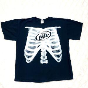 Miller Lite Mens  Size XL Skeletan X-Ray